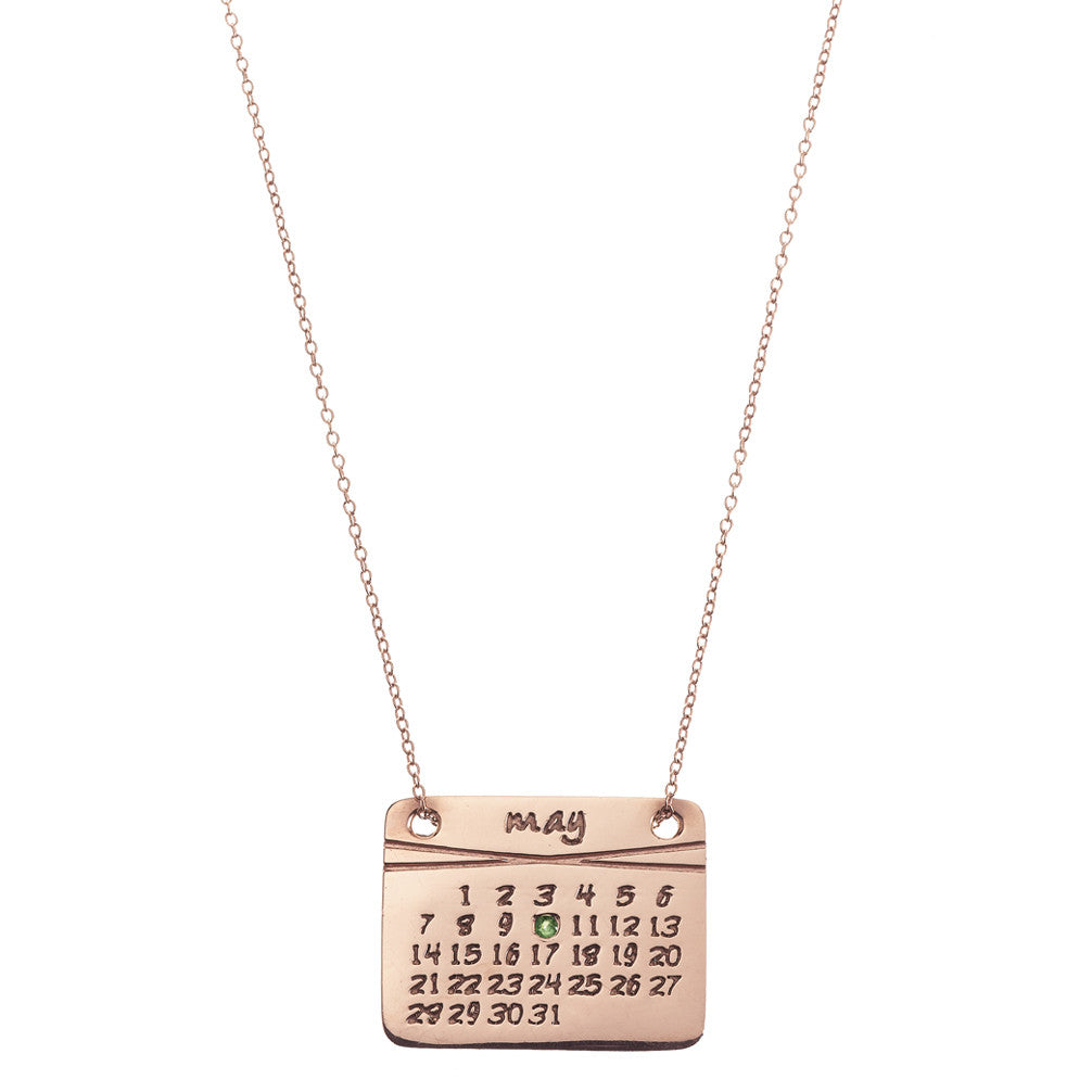 the calendar necklace<sup>®</sup> in rose gold