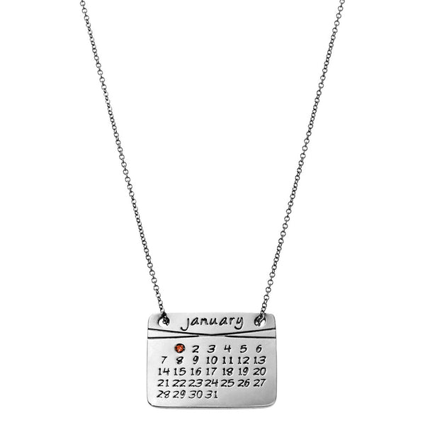 the calendar necklace<sup>®</sup> in sterling silver