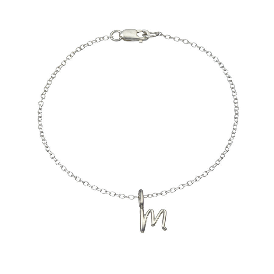 the little letter chain bracelet in sterling silver