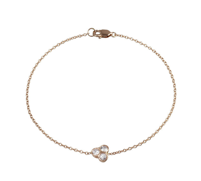 the portafortuna cluster bracelet in rose gold