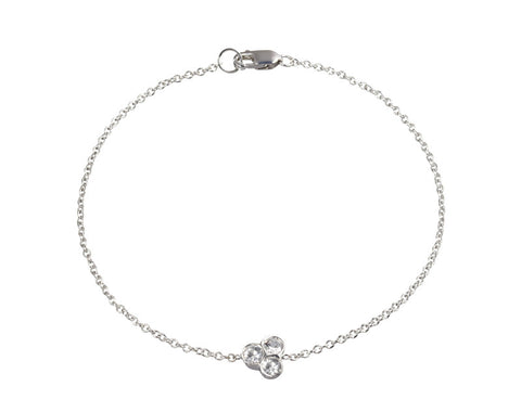 the portafortuna cluster bracelet in sterling silver