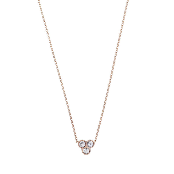 the portafortuna cluster necklace in rose gold
