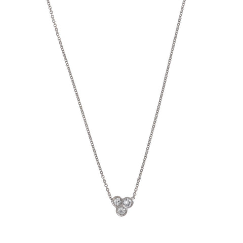 the portafortuna cluster necklace in sterling silver