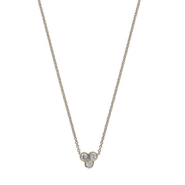 the portafortuna cluster necklace in yellow gold