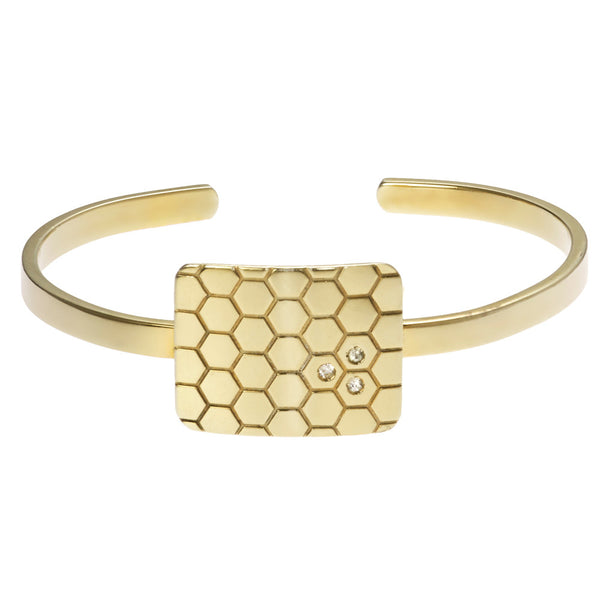the honeycomb cuff bracelet
