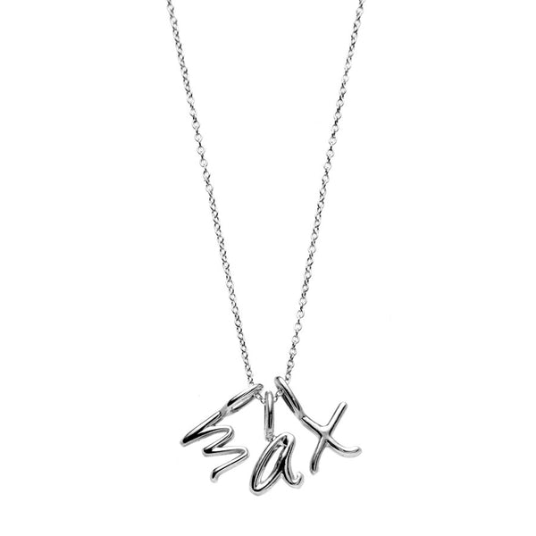 the little letter necklace in sterling silver