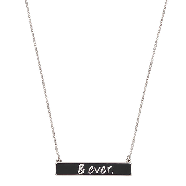 the & ever necklace