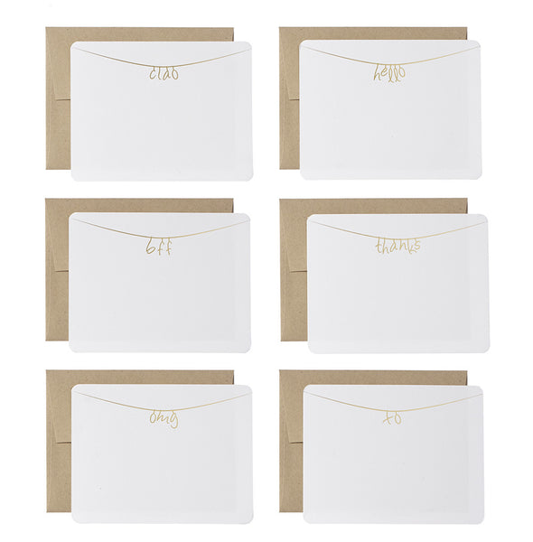 the little letter note cards