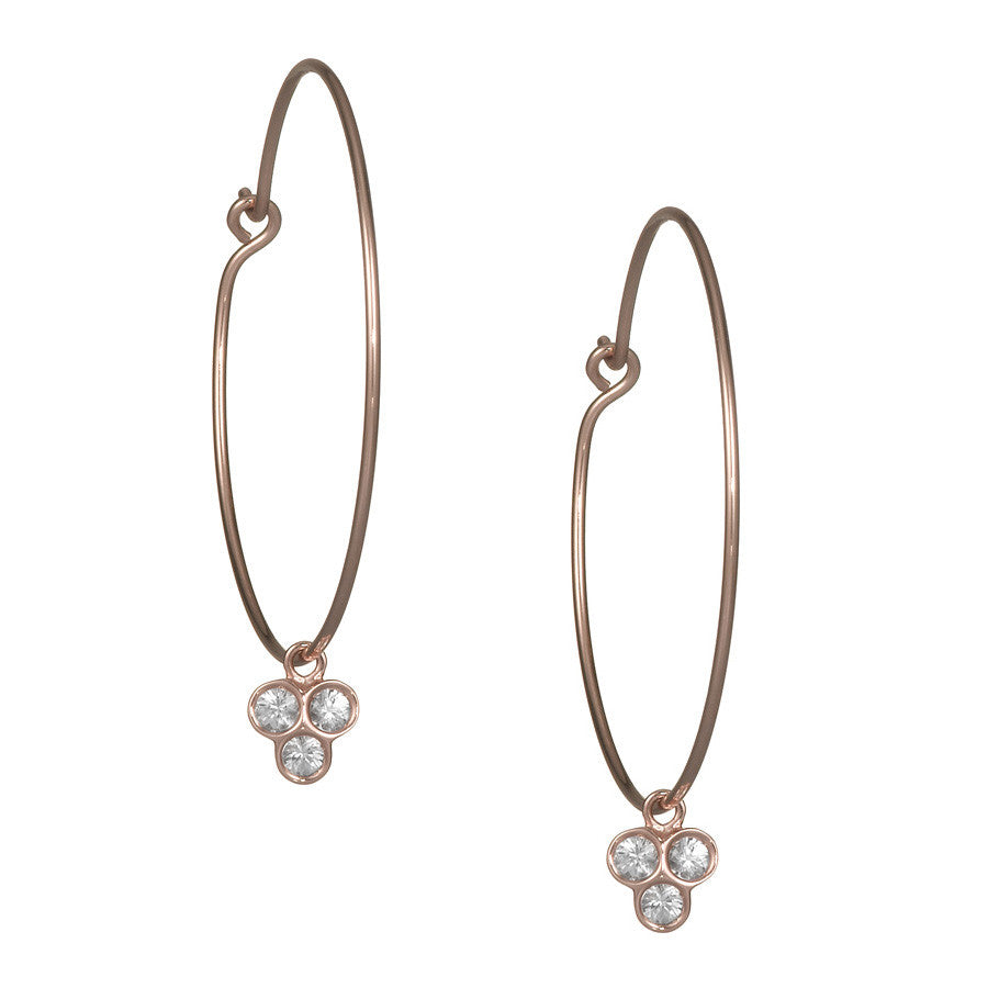 the portafortuna medium hoops in rose gold