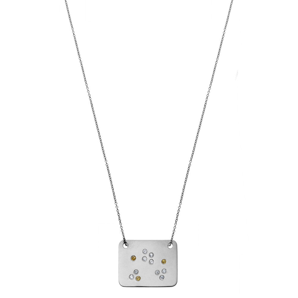 the scatter of sparkle necklace in sterling silver