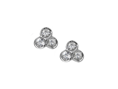 the portafortuna studs in sterling silver