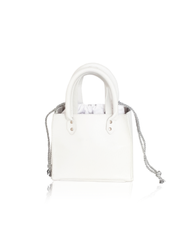 Marey London Pulchritude White and Silver Handbag Purse