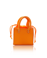Marey London Pulchritude FluoOrange Handbag Purse