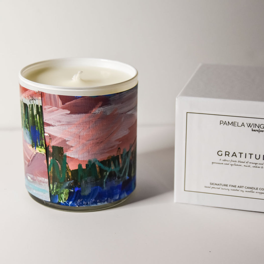 ORIGINAL FINE ART CANDLE:  FOURTEEN: AVAILABLE VIA GALLERY