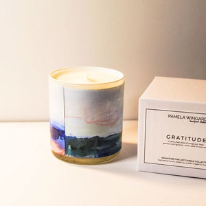 ORIGINAL FINE ART CANDLE:  SEVENTEEN