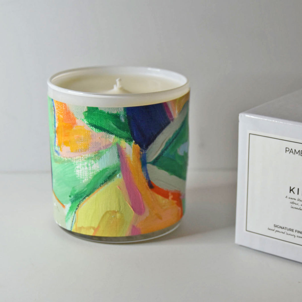 ORIGINAL FINE ART CANDLE:  THREE