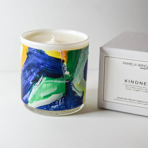 ORIGINAL FINE ART CANDLE:  FIVE
