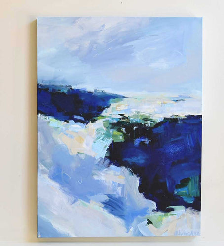 Blue Pacific Abstract Painting