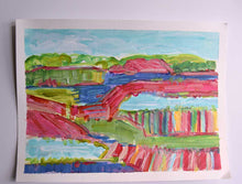 Load image into Gallery viewer, 'Chianti Picnic' 9 x 12 painting on paper