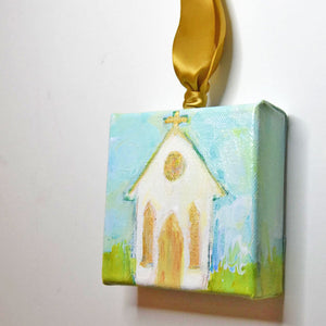 HAND PAINTED CHRISTMAS ORNAMENT: Comfort: AVAILABLE VIA GALLERY