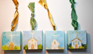 HAND PAINTED CHRISTMAS ORNAMENT: Rejoice