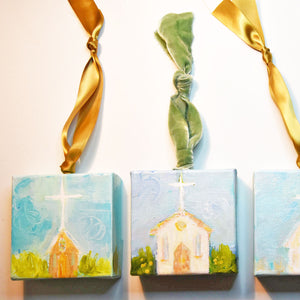 HAND PAINTED CHRISTMAS ORNAMENT: Joyous