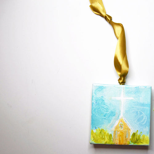 HAND PAINTED CHRISTMAS ORNAMENT: Inspired