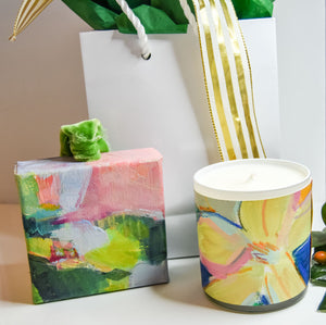 GIFT SET: ORNAMENT & ORIGINAL ART WRAPPED CANDLE