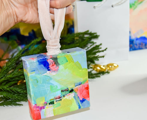 HAND PAINTED CHRISTMAS ORNAMENT: Clarity