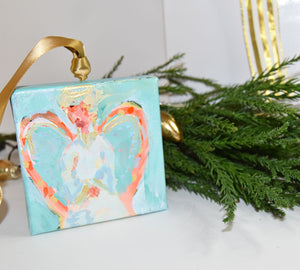 HAND PAINTED CHRISTMAS ORNAMENT: Courage