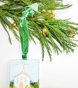 HAND PAINTED CHRISTMAS ORNAMENT: Loving