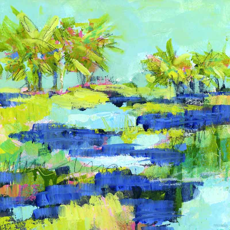 Another Sunny Day. Original Painting: Palm Tree Collection
