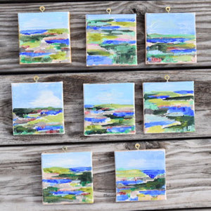 Hand Painted Christmas Ornaments by Pamela Wingard Barefoot Studios