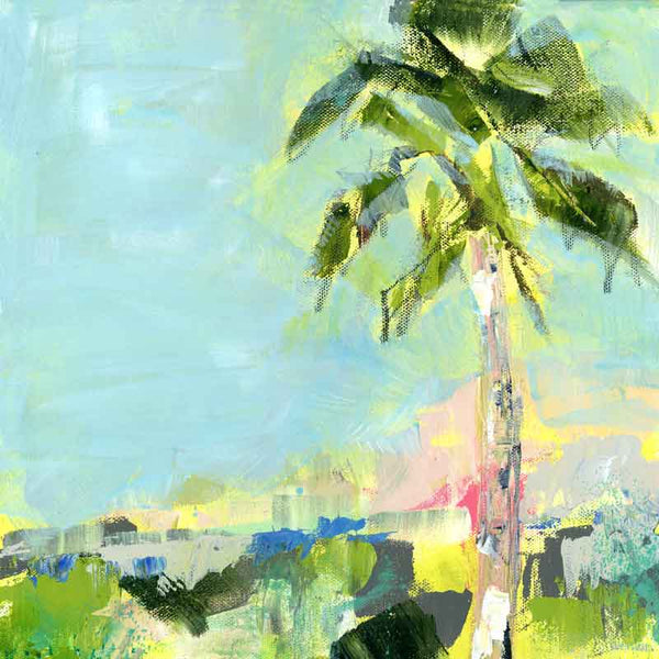 Good Morning Beautiful' Original Painting: Palm Tree Collection