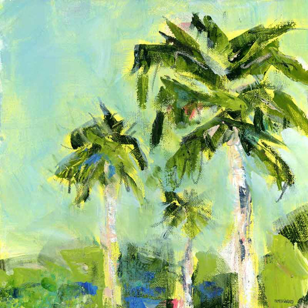 'Good Morning Sunshine' Original Painting: Palm Tree Collection