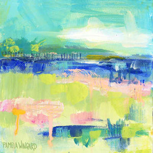 Kiawah Day. Original Painting: Abstract Marsh Collection