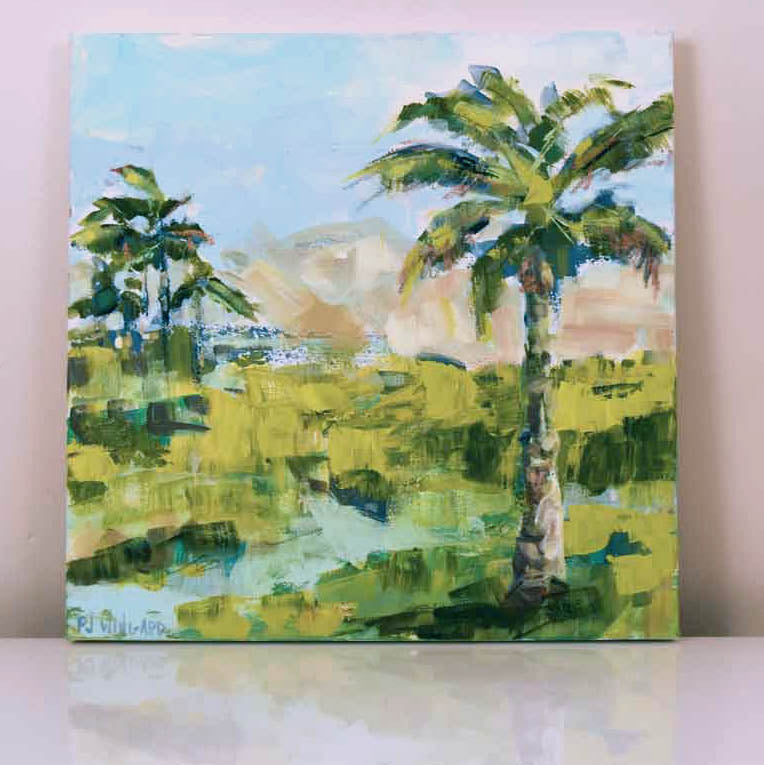 Palm Springs Getaway. Original Painting: Palm Tree Collection