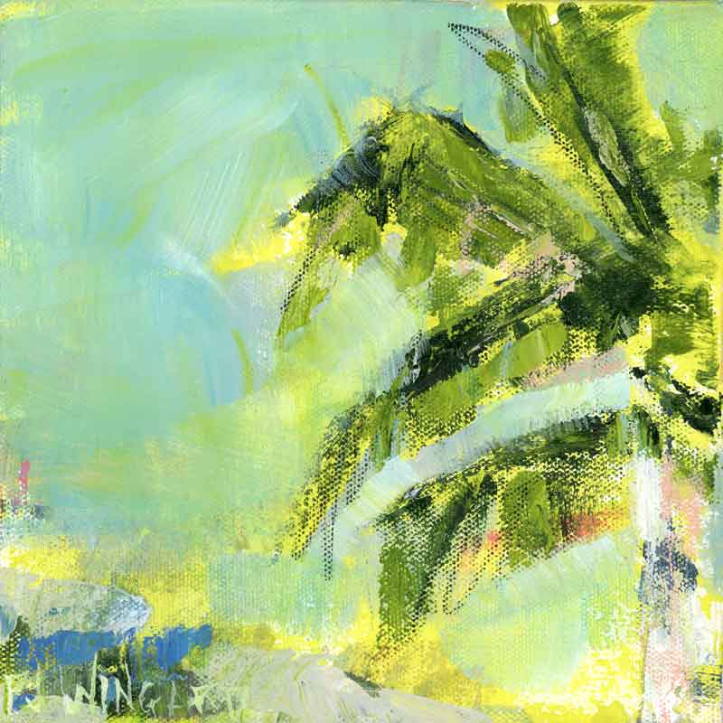 Pina Colada Day. Original Painting: Palm Tree Collection