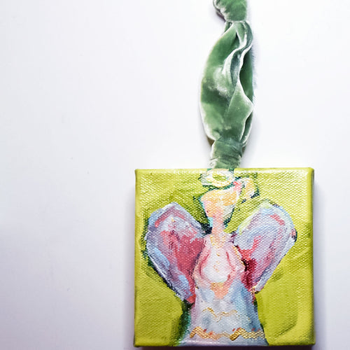 HAND PAINTED CHRISTMAS ORNAMENT: Patience: AVAILABLE VIA GALLERY
