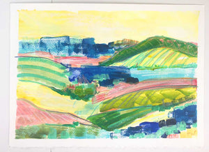 'Prosecco Afternoon' 11 x 15 painting on paper AVAILABLE THROUGH GALLERY