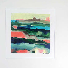 Load image into Gallery viewer, 'Sunset' 8 x 8 painting on paper AVAILABLE THROUGH GALLERY