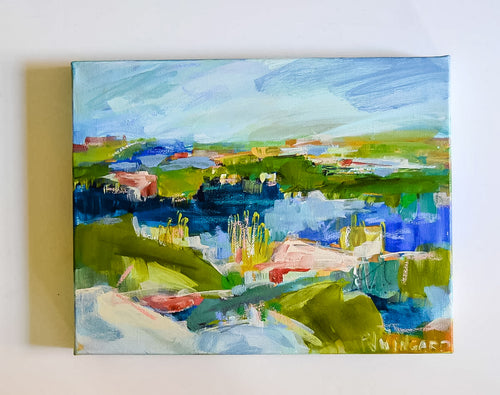 Valley By The Sea Painting