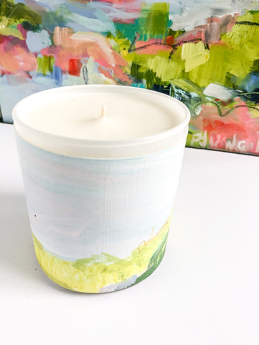 ORIGINAL FINE ART WRAPPED CANDLE: EIGHT