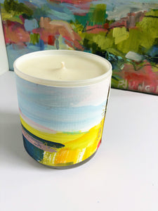 ORIGINAL FINE ART WRAPPED CANDLE: FIVE