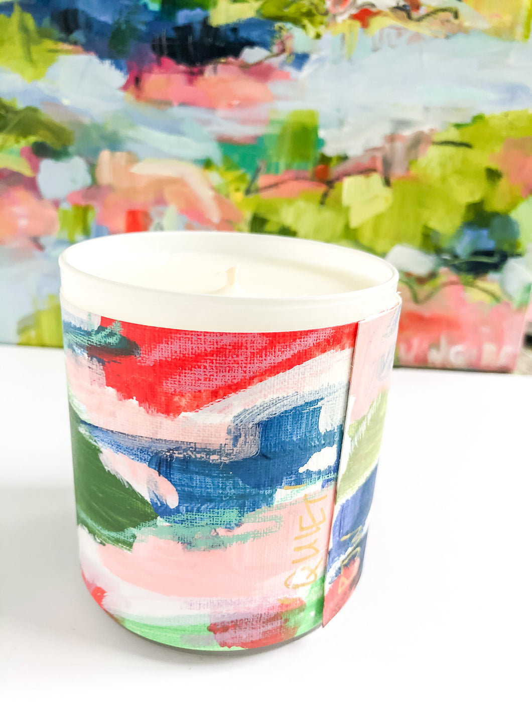ORIGINAL FINE ART WRAPPED CANDLE: FOUR