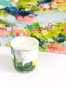 ORIGINAL FINE ART WRAPPED CANDLE - ONE