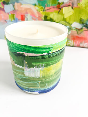 ORIGINAL FINE ART WRAPPED CANDLE: SEVEN