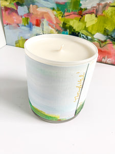 ORIGINAL FINE ART WRAPPED CANDLE: SIX