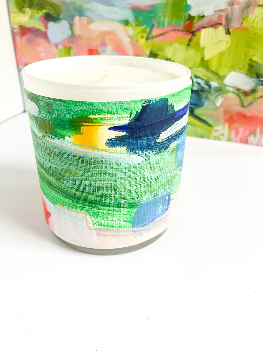 ORIGINAL FINE ART WRAPPED CANDLE: THREE