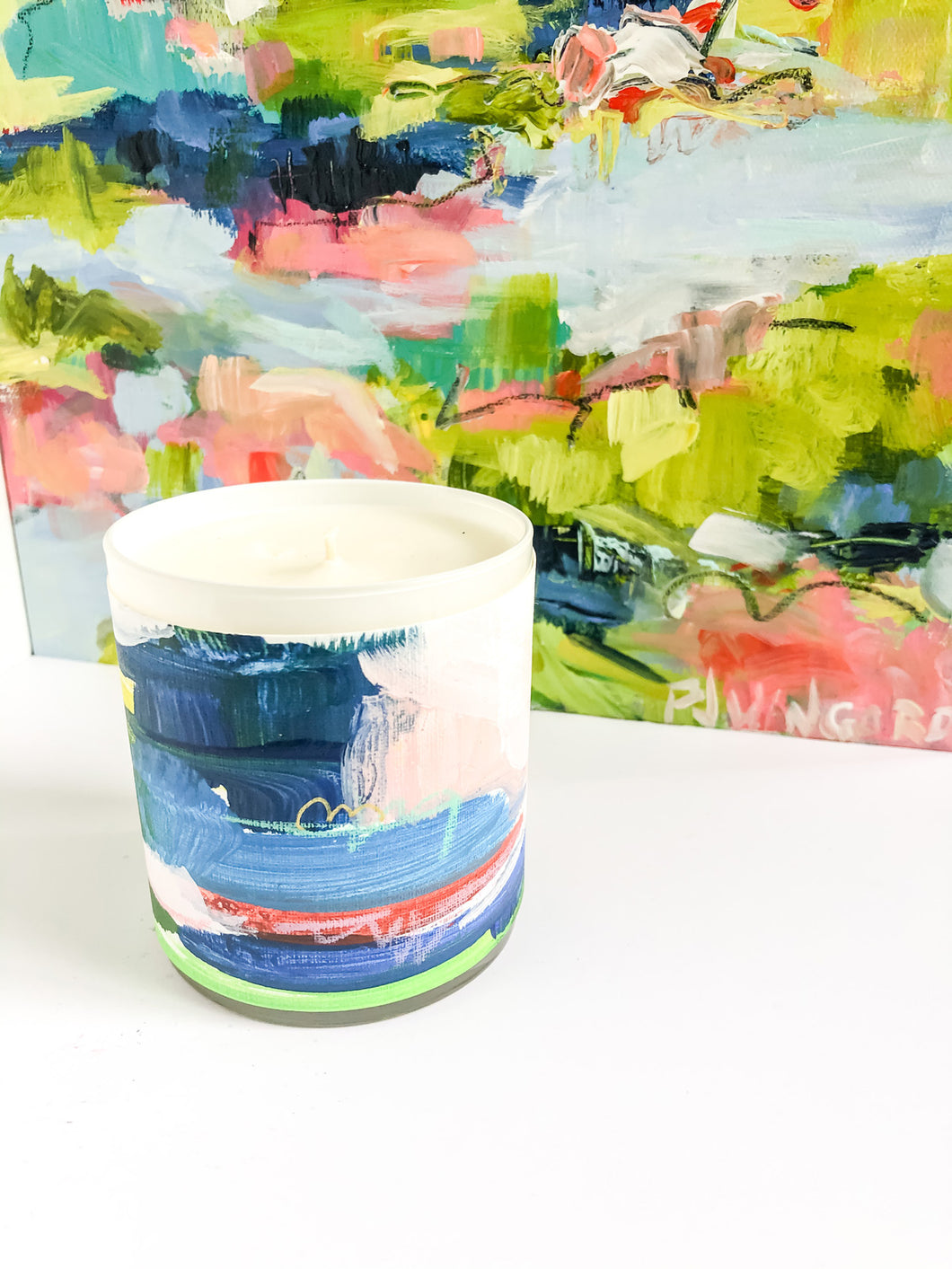 ORIGINAL FINE ART WRAPPED CANDLE: TWO